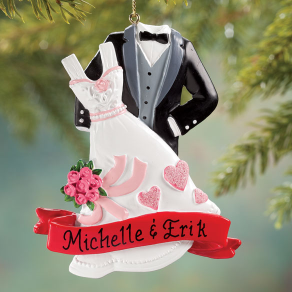 Personalized Bride & Groom Ornament