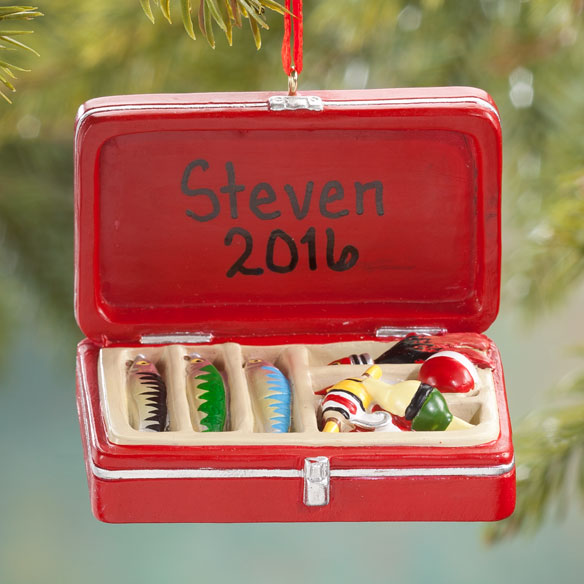 Personalized Tackle Box Ornament