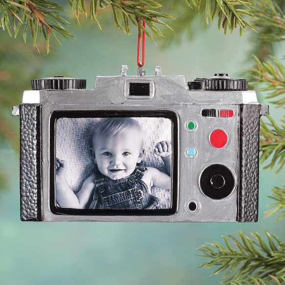 Personalized Camera Ornament - View 1