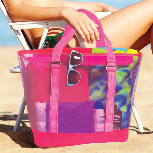 Colorful Mesh Beach Tote