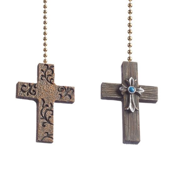 Cross Fan & Light Pulls, Set of 2
