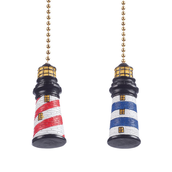 Lighthouse Fan & Light Pulls, Set of 2