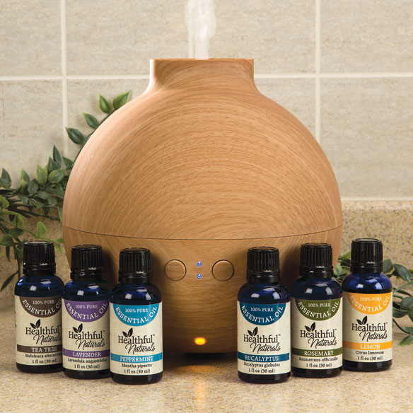 Healthful™ Naturals Essential Oil Starter Kit & 600 ml Diffuser