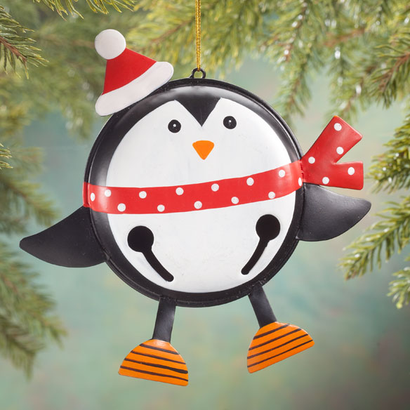 Personalized Penguin Bell Ornament