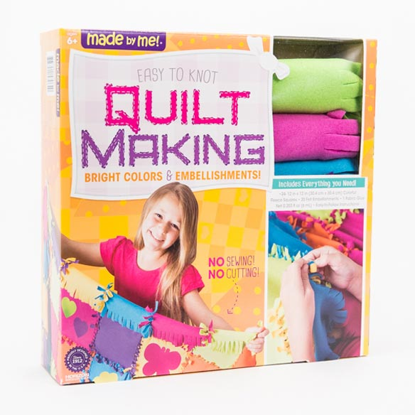 Easy-to-Knot Quilt Making Kit