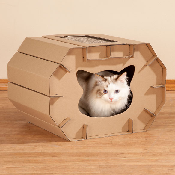 Cardboard Cat House - View 1