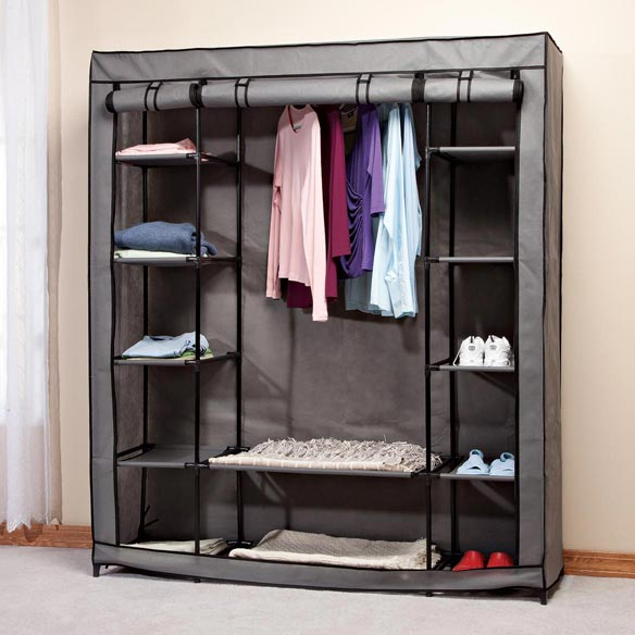 Clothing Wardrobe with Shelves