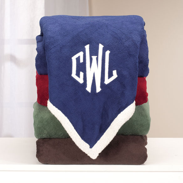 Personalized Ultra Plush Sherpa Throw by OakRidge Comforts™
