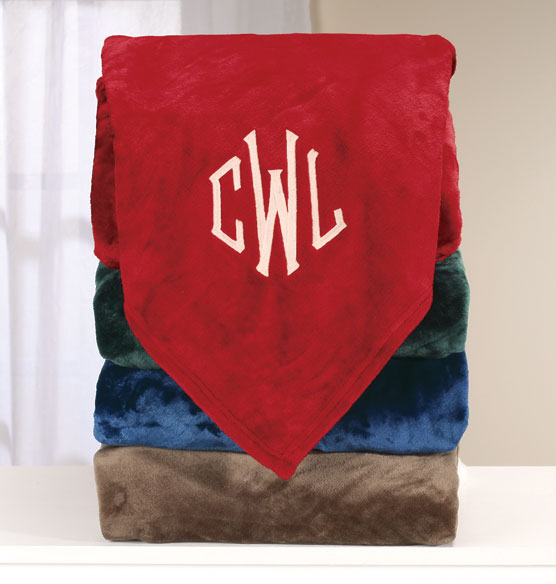 Personalized Oversized Plush Blanket by OakRidge Comforts™ - View 1