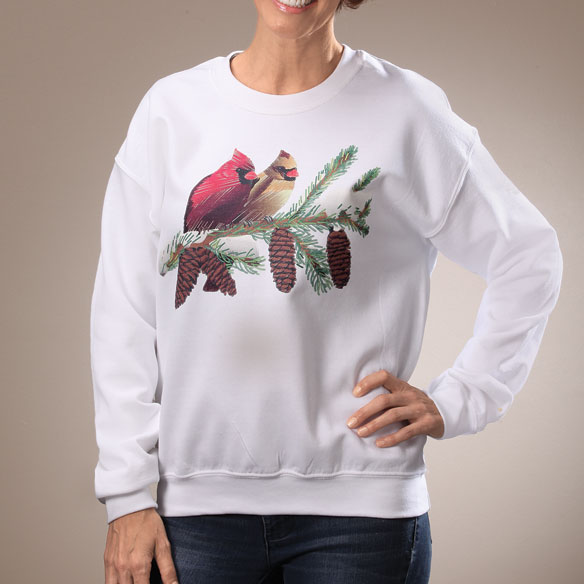 Winter Branch with Cardinals Sweatshirt