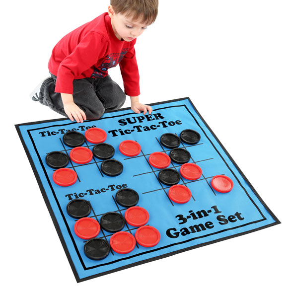 3-in-1 Giant Checkers Game