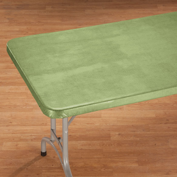 Illusion Weave Vinyl Elasticized Banquet Tablecover