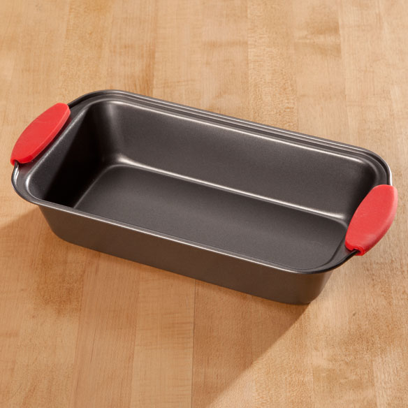 Loaf Pan with Red Silicone Handles by Home-Style Kitchen™