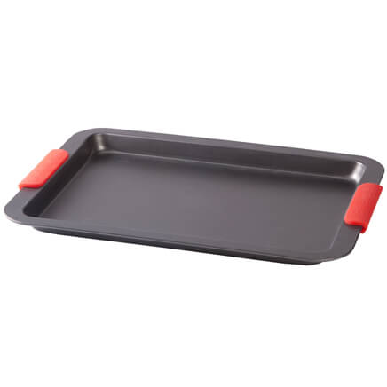 Baking Sheet with Red Silicone Handles by Home-Style Kitchen