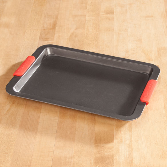 Baking Sheet with Red Silicone Handles by Home-Style Kitchen™