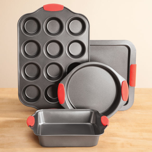Baker's Essentials 4-Pc. Baking Set with Red Silicone Handles by Home-Style Kitchen™