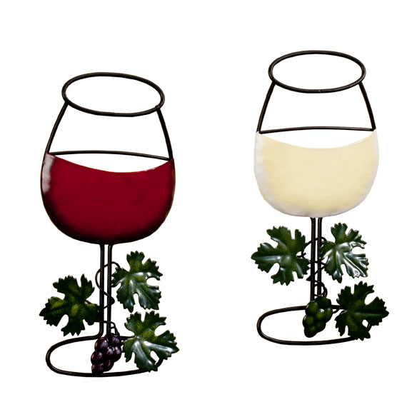 Wine Glass Wall Hanging, Set of 2