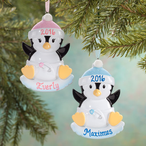 Personalized Baby Penguin Ornament