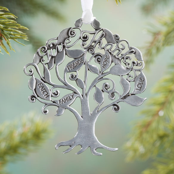 """Give Thanks"" Pewter Ornament"