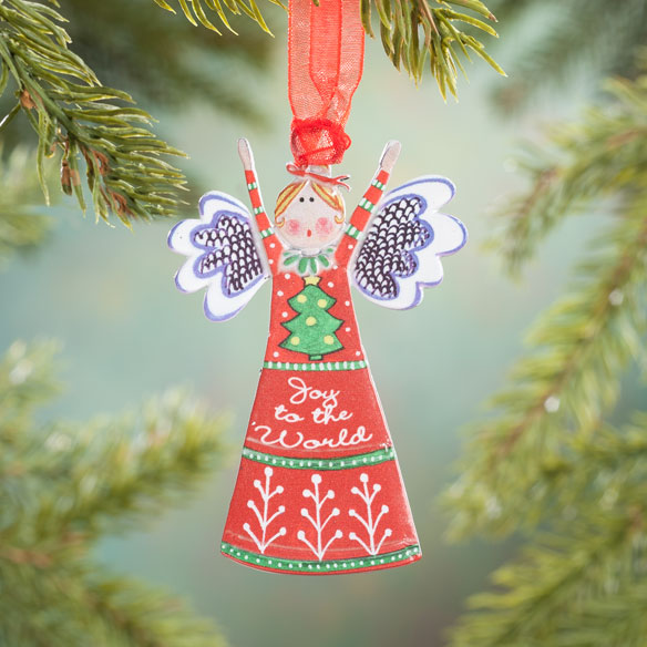 """Joy to the World"" Angel Ornament"
