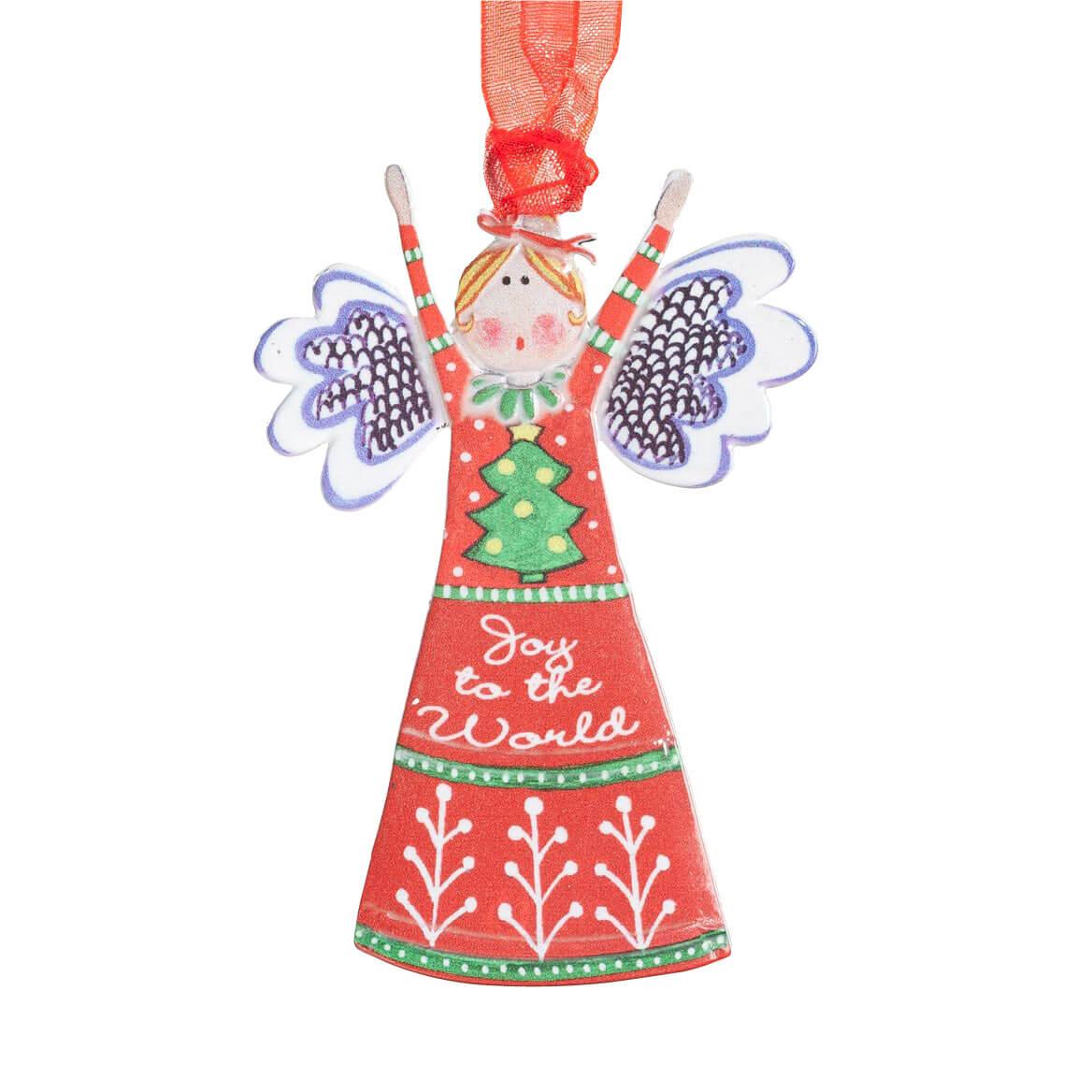 """Joy to the World"" Angel Ornament - Christmas Ornament ..."