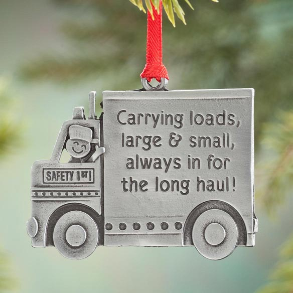 Truck Driver Pewter Ornament