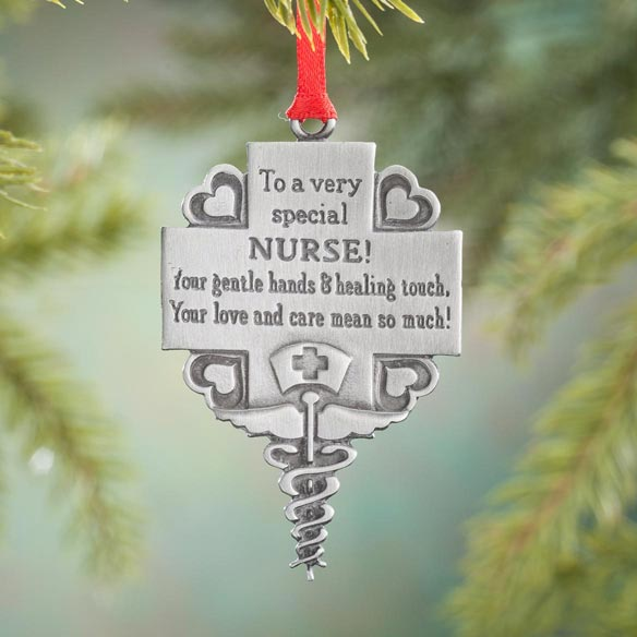 Nurse Pewter Ornament
