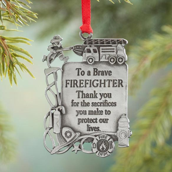 Firefighter Pewter Ornament