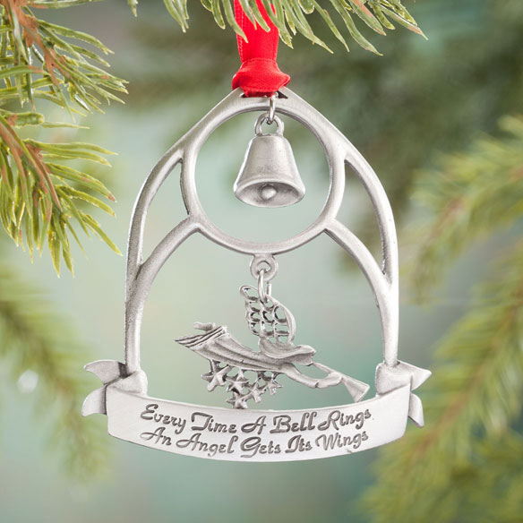 """Every Time a Bell Rings"" Pewter Ornament"