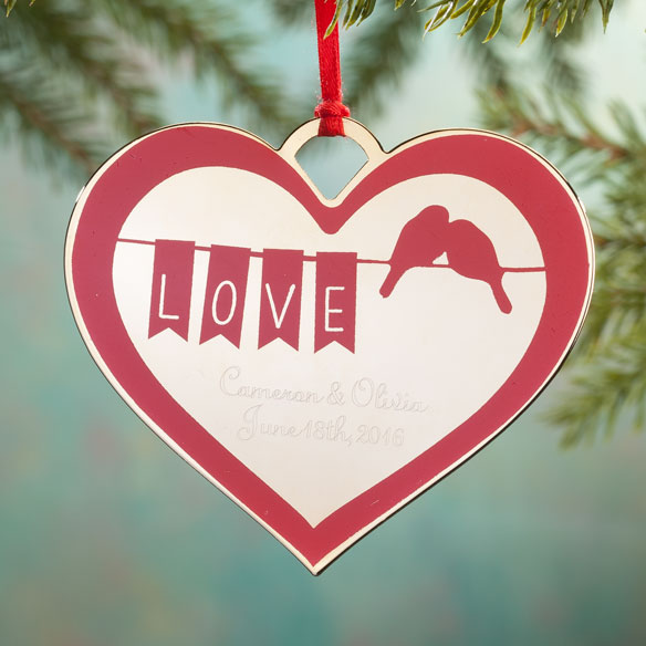 Personalized Lovebirds Ornament