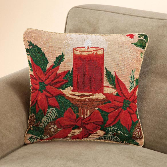 Christmas Candle Pillow Cover - View 1