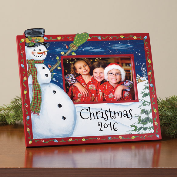 2016 Hand Painted Christmas Frame
