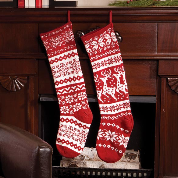 "28"" Knit Stockings - View 1"