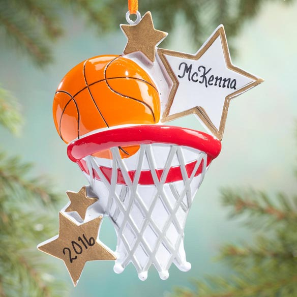 Personalized Basketball Star Ornament