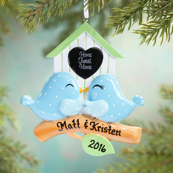 "Personalized ""Home Tweet Home"" Ornament"
