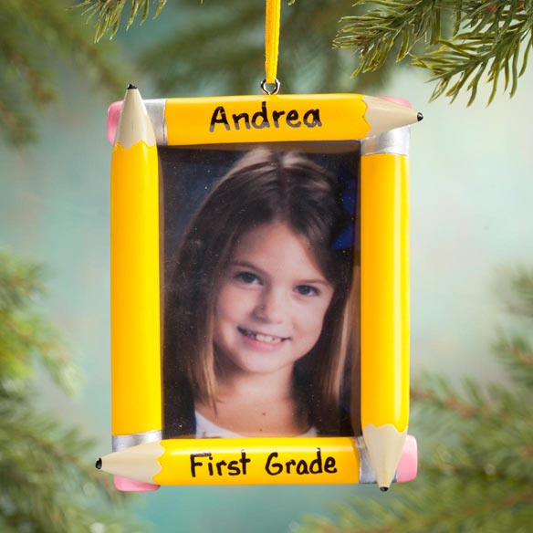 Personalized School Frame Ornament