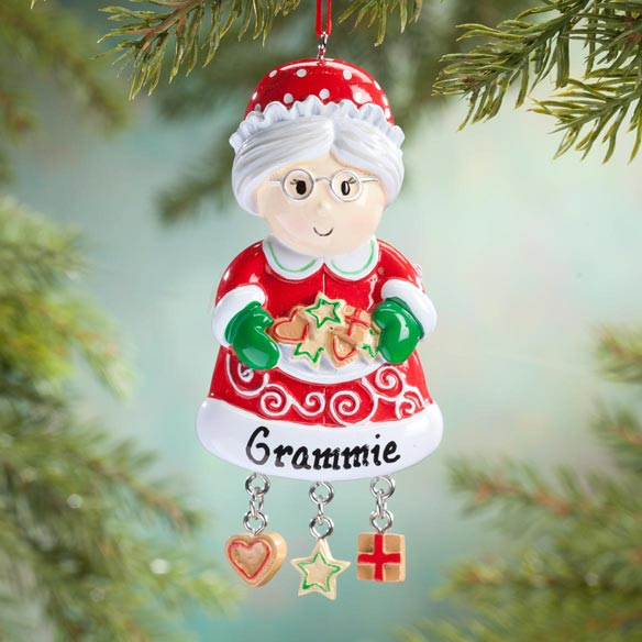 Personalized Mrs. Claus Cookies Ornament