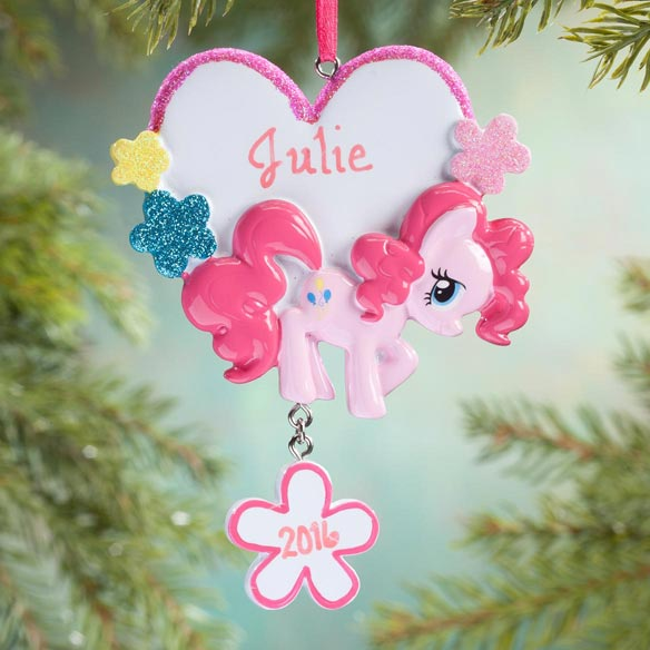 Personalized Pink My Little Pony® Ornament