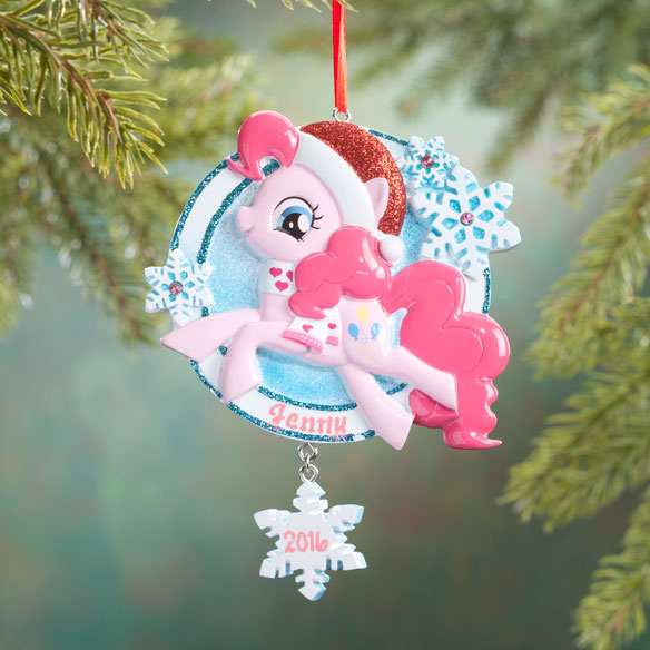 Personalized Pink Santa My Little Pony® Ornament