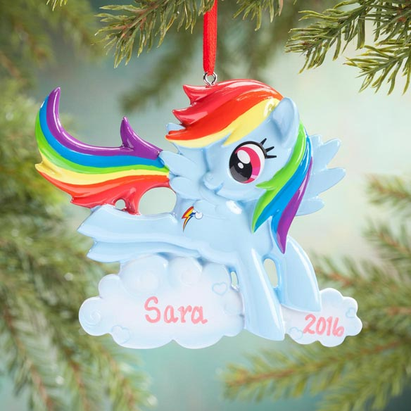 Personalized Blue My Little Pony® Ornament