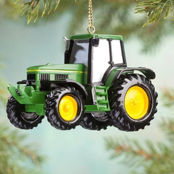 John Deere Tractor Wood Ornaments : John deere tractor ornament christmas miles