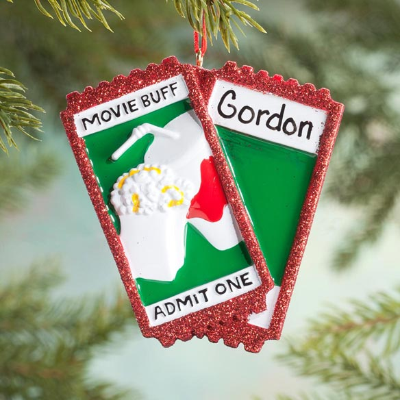 Personalized Movie Buff Ornament - View 1