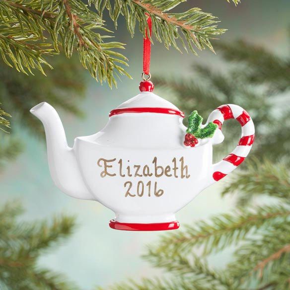 Personalized Christmas Teapot Ornament