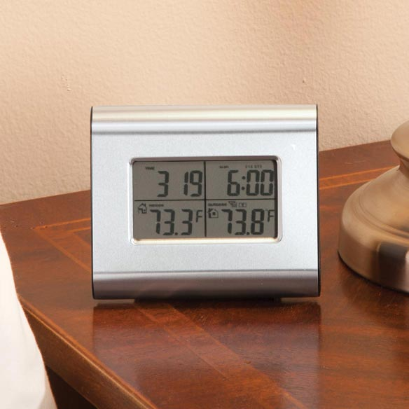 Wireless Weather Station Clock - View 1