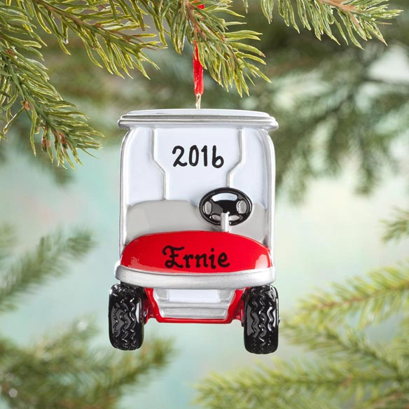 Personalized Golf Cart Ornament - View 1