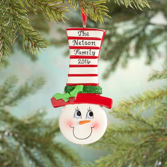 Personalized Snowman Ornament - View 1