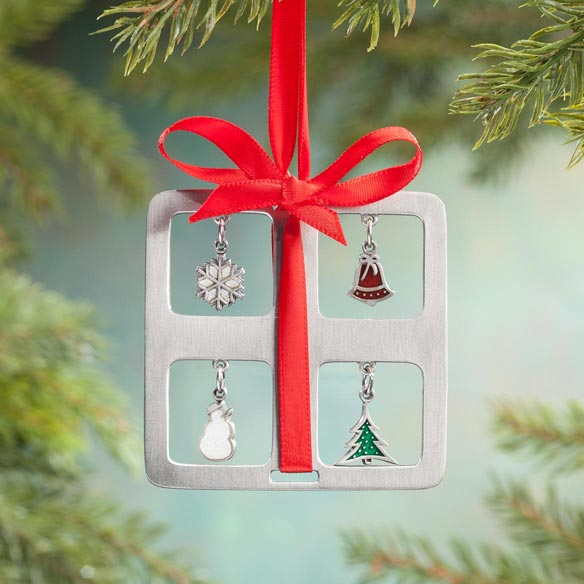 Pewter Charm Present Ornament