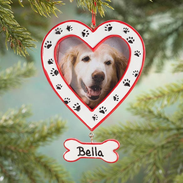Personalized Paw Print Frame Ornament