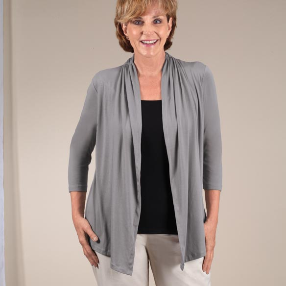 Two-in-One Top with 3/4-Length Sleeves