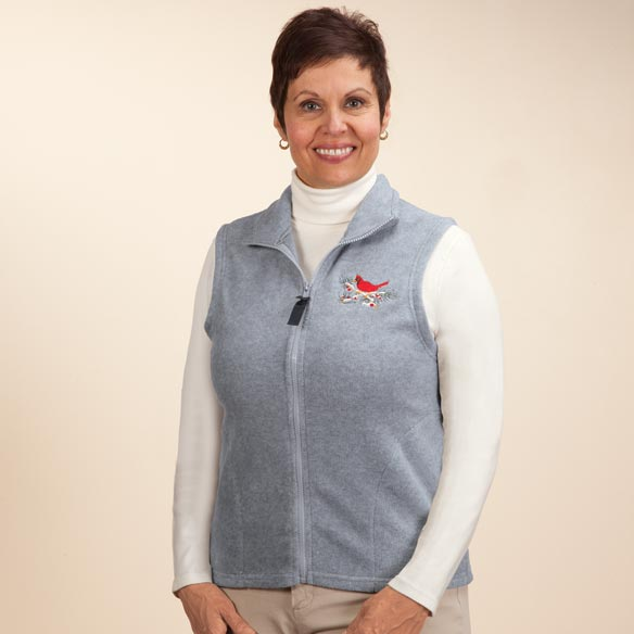 Embroidered Polar Fleece Vest